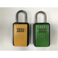 Cheap Rust Free Strong Zinc And Aluminum Alloy Body Door Key Lock Box Black & Yellow for sale