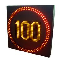 Quality City Streets Digital Speed Limit Signs , Led Speed Signs Refresh Rate 120Hz wholesale