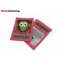 Quality Custom Logo Ziplock Foil Food Pouches Glossy Three Side Sealed Reusable 5g wholesale