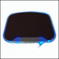 Quality Cool Blue Light Mouse Pad with USB Hub wholesale