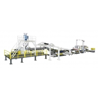 China A B C B A 2400mm ABS Pmma Sheet Production Line Machinery on sale