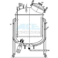 Cheap Stainless Steel Mixing Tank with Agitator 500L 1000L Steam Jacket Heating And Cooling Mixing Tank for sale
