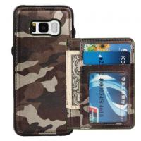 Quality Camouflage Samsung S8 Plus Wallet Case , Back Cover Custom Leather Phone Cases wholesale