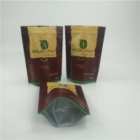 Coffee Beans Custom Printed Stand Up Pouches Clear Bottom Food Packaging With