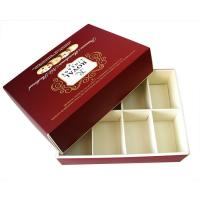 China Eco-friendly Square Red Printed Recycled Cardboard Paper Gift Boxes for Moon Cake Cookies on sale