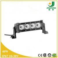 Quality 4 leds light bar cree 10w, led bar lights, 40W single row LED light bar for JEEP wholesale