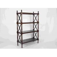 Quality 144CM Walnut Soild Wooden Book Rack Four Tiers For Living Room Corner Storage wholesale