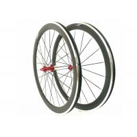 Quality 20 / 24H 700C Carbon Alloy Wheels 50MM Clincher 23MM Width For Road Bike wholesale