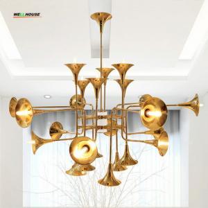 China Trumpet chandeliers Lighting gold copper chandelier pendant light for Living room Bedrom Ktchen Decoration on sale