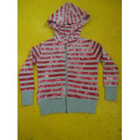 Quality Tie Dyed Multi Strips Basic Hooded Zippered Sweatshirt Jackets Rib Cuff Bottom wholesale