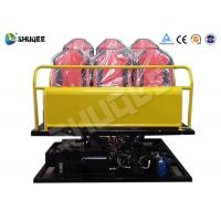 Quality 6 Seats Yellow 6-DOF Hydraulic Platform Type 7D Cinema System All the equipment wholesale