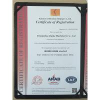 CHANGZHOU JIUMA MACHINERY CO,.LTD Certifications