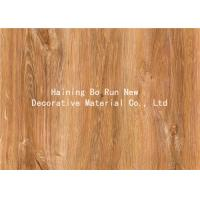 Quality MDF Skirting Board Cover Wood Grain Film Brown Color 500 Meters / Roll wholesale