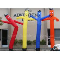 China Advertising Inflatable Waving Man , Colorful Inflatable Smiling Dancing Tube Man on sale