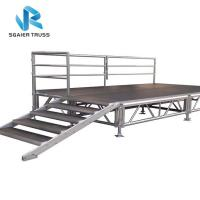 China Portable Folding Stage Equipment Aluminum Mobile Stage Platform With Stair Step on sale