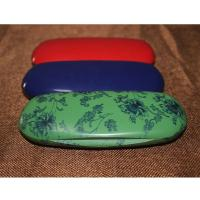 Quality Fashion Abs Plastic Kids Eyeglass Case Lightweight Black / Red With Velvet Lining wholesale