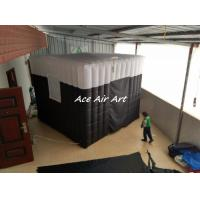 Quality cheap wedding birthday party use inflatable black backdrop photo booth for sale wholesale