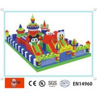 Quality Large Indoor 0.55mm PVC tarpaulin inflatable fun city games for kids With Slide Combo wholesale