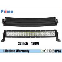 Quality Waterproof 120W Double Row Led Light Bar ,  Spot / Flood / Combo Beam Light Bar wholesale