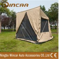 Quality canvas 4 square 1- 2person tent and Awning For outdoor camping sleep wholesale