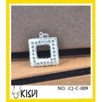 Quality High quality guaranteesquare CZ crystal & 925 silver handcrafted crystal jewelry wholesale