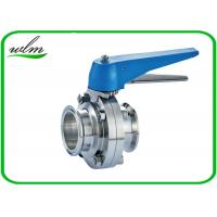 Quality Multiple Position Sanitary Manual Butterfly Valves with Plastic Gripper Handle wholesale