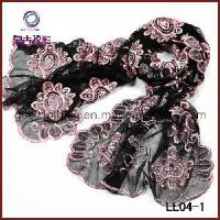 Quality Lady Embroidery Lace Scarf Charms (LL04-1) wholesale