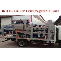 automatic stainless steel fruit conveyor double belt press machine for apple juice