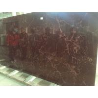 Quality Brown Artificial Quartz Stone Slab Polished / Honed Finished Surface wholesale
