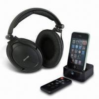 Quality Sound Wireless Headphone for iPod with iPod Docking Transmitter Different Universal Dock Candles wholesale