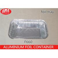 Quality 660ml Volume Aluminum Disposable Food Containers , Tin Foil Food Trays F660 Grill Pan wholesale