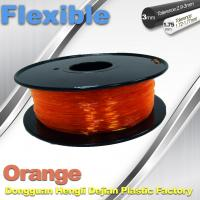 Quality Orange Flexible 3D Printer Filament Consumables With Great Adhesion wholesale