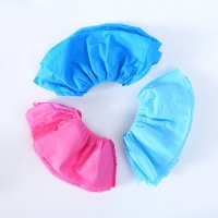 China pink Non Slip Thin 3gsm 40gsm Non Woven Shoe Covers on sale