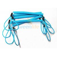 Quality Blue Coil Tool Lanyard Elasticated Spring Tool Tether With Double Loop Ends wholesale