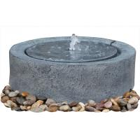 Quality Black Marble Cast Asian Buddha Water Fountain Outdoor In Chinese Stone Mill Shape wholesale