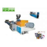 Quality Windows and door pvc profile extrusion line with conical twin screw extruder , cutting machine wholesale