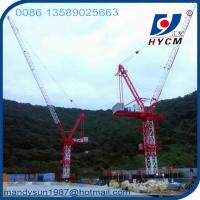 Quality 10 ton 50m Boom Luffing Jib Tower Crane QTD125 for high rise building wholesale