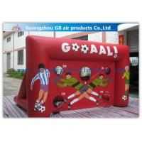 Quality Red Funny Boys Inflatable Football Game / Inflatable Sports Arena For Ball Shooting wholesale