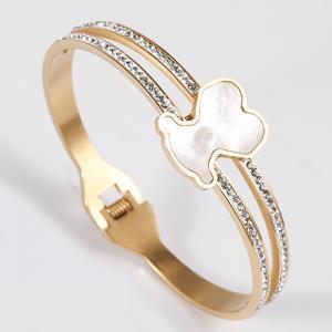 Quality Nickel / Lead Free Stainless Steel Jewellry Women Crystal Bangle Bracelet wholesale