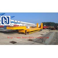 China Flatbed Manual Semi Trailer Trucks 4 Axles with Four Double Air Chamber on sale