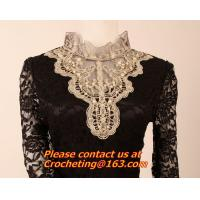 China Blouse Shirts Casual Hollow Crochet Shawl Collar Blusas Femininas Plus Size Lace Top on sale