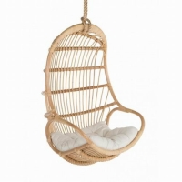 Quality 360mm Height 200mm Width Rattan Hanging Egg Chair , Egg Doll Chair steel frame wholesale