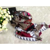 Quality Lady Big Artificial Cotton Voile Scarves With Tower Pattern wholesale