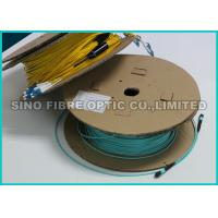 Quality LC / APC Multiple Pre Terminated Fiber Optic Cable Single Mode Breakout Structure wholesale
