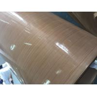 Cheap Beige Adhesive PTFE Coated Fiberglass Fabric Smooth Surface Aging Resistance for sale