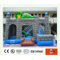 Quality Lovely Clown 0.55mm PVC Tarpaulin Inflatable Jumping Castle Inflatable Castle Slides wholesale
