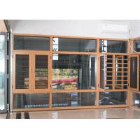 China Contemporary Aluminum Windows And Doors Yellow Overall Easy Clean Powder Coated on sale