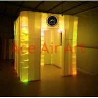 Quality Ace Air Art 2.4m x2.4m x2.4m  led lighting portable inflatable photo booth with logo to USA wholesale