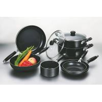 Quality Black 9pcs Nonstick Coating Cookware Set With Silicon Handle wholesale