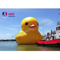 Quality 8M Inflatable Yellow Duck , Aerated Portable Exhibition Stands On Water wholesale